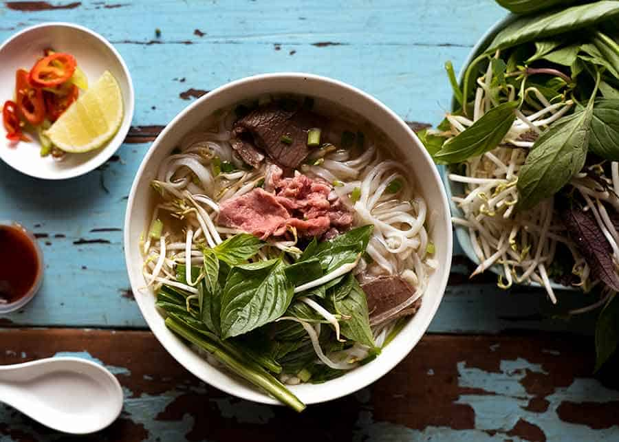 Rindfleisch Pho in Ho Chi Minh Stadt