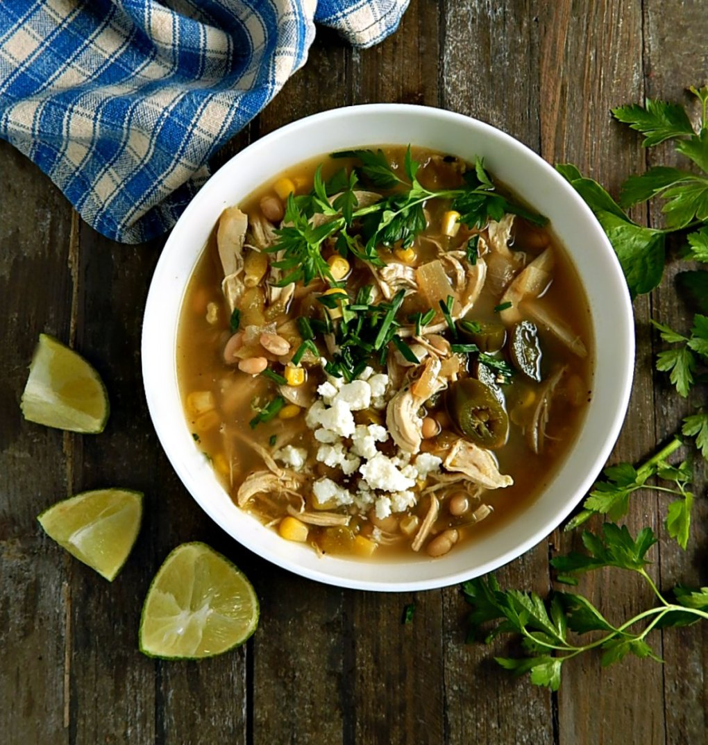 White Chicken Chili Slow Cooker - Instant Pot - Stovetop