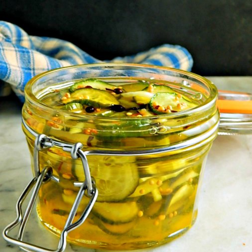 Sweet Tart Bread & Butter Pickles
