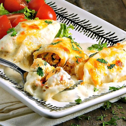 Creamy Cajun Stuffed Shells