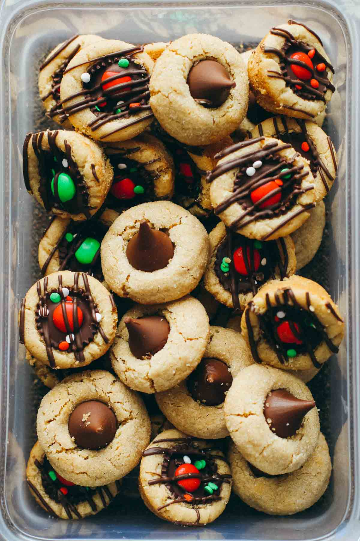 Cookies in a container.