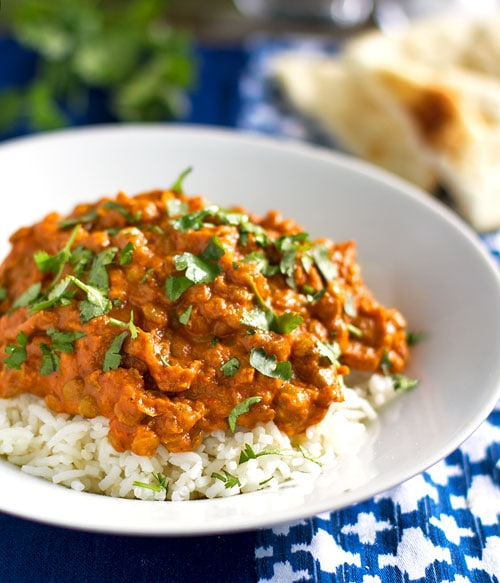 rote curry-Linsen