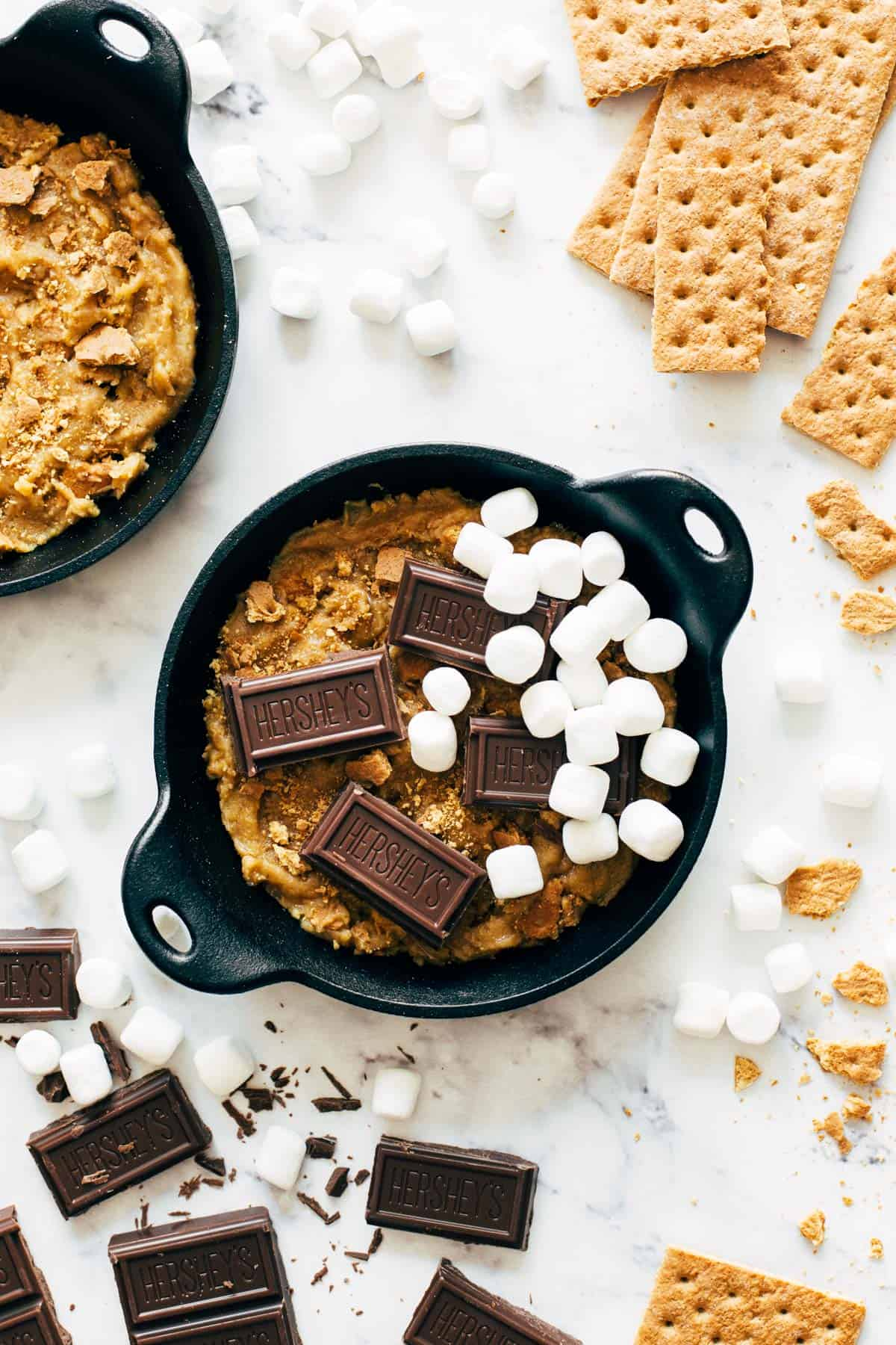 S'mores bowls before baking.