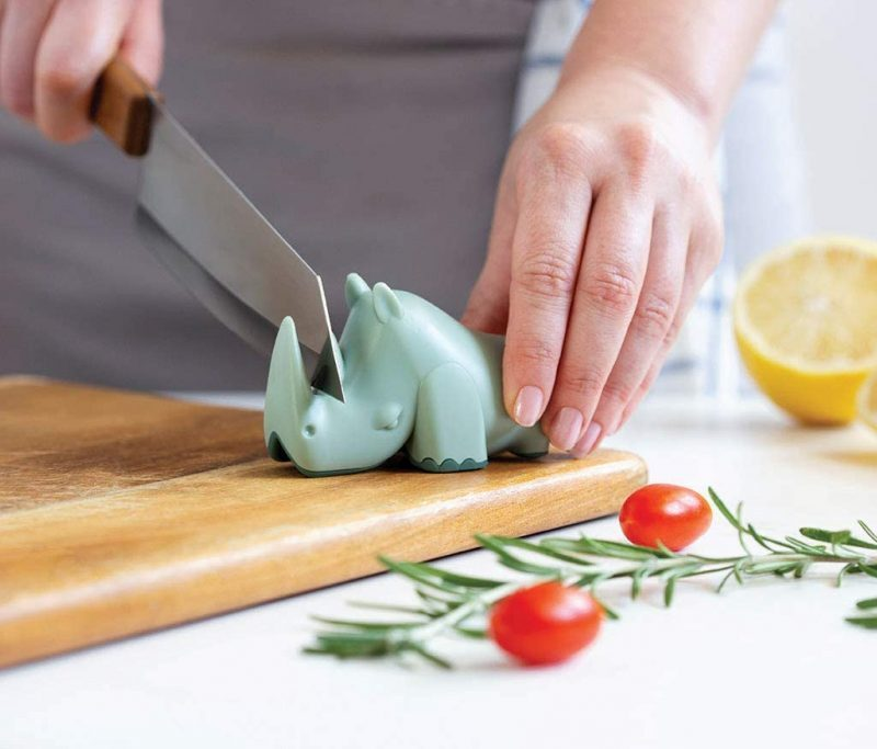Product Of The Week: A Cute Rhino Shaped Knife Sharpener